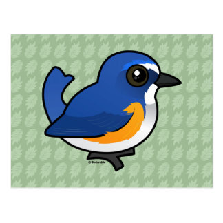 Birdorable Red-flanked Bluetail Postcard