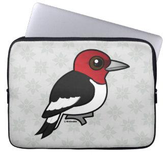 Birdorable Red-headed Woodpecker Laptop Sleeve