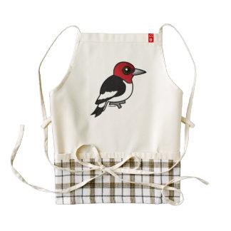 Birdorable Red-headed Woodpecker Zazzle HEART Apron