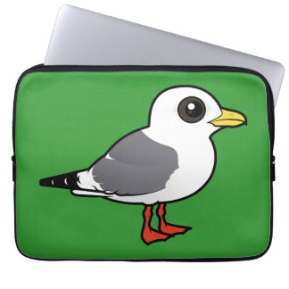 Birdorable Red-legged Kittiwake Computer Sleeve
