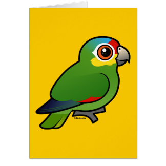 Birdorable Red-lored Parrot Card
