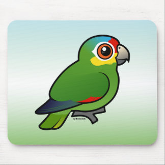 Birdorable Red-lored Parrot Mouse Pad