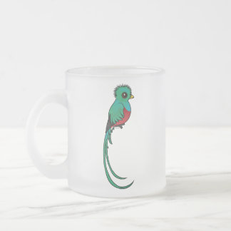Birdorable Resplendent Quetzal Frosted Glass Coffee Mug