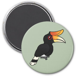 Birdorable Rhinoceros Hornbill 3 Inch Round Magnet