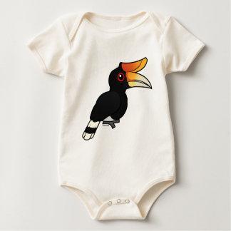 Birdorable Rhinoceros Hornbill Baby Bodysuit