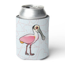 Birdorable Roseate Spoonbill Can Cooler