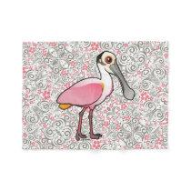 Birdorable Roseate Spoonbill Fleece Blanket