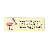 Birdorable Roseate Spoonbill Label