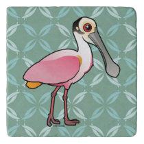 Birdorable Roseate Spoonbill Trivet