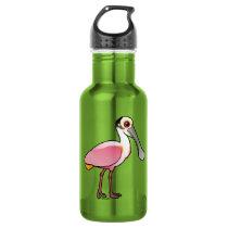Birdorable Roseate Spoonbill Water Bottle