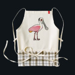"Birdorable Roseate Spoonbill Zazzle HEART Apron<br><div class=""desc"">Another cute gift idea from Birdorable! Roseate Spoonbills are large wading birds found in Florida and other parts of the American southeast, as well as parts of Central and South America. This is our totally cute Birdorable Roseate Spoonbill! You can customize this gift! Move the spoonie around, change the color...</div>"