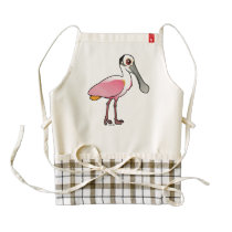 Birdorable Roseate Spoonbill Zazzle HEART Apron