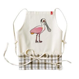Birdorable Roseate Spoonbill Zazzle HEART Apron