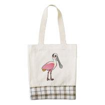 Birdorable Roseate Spoonbill Zazzle HEART Tote Bag