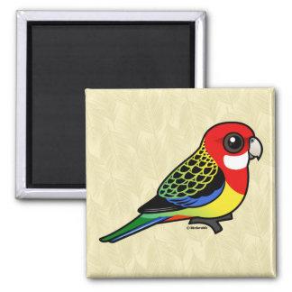 Birdorable Rosella del este Imán Cuadrado