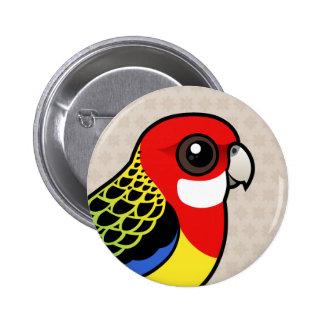Birdorable Rosella del este Pin Redondo De 2 Pulgadas