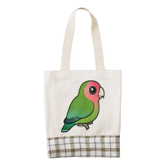 Birdorable Rosy-faced Lovebird Zazzle HEART Tote Bag
