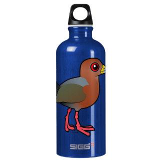 Birdorable Rufous-necked Wood-Rail Aluminum Water Bottle