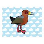 Birdorable Rufous-necked Wood-Rail Postcard