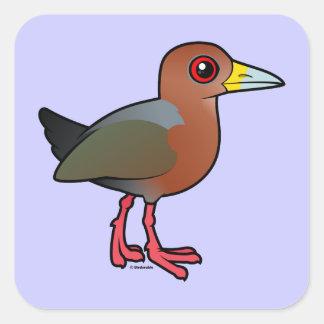 Birdorable Rufous-necked Wood-Rail Square Sticker