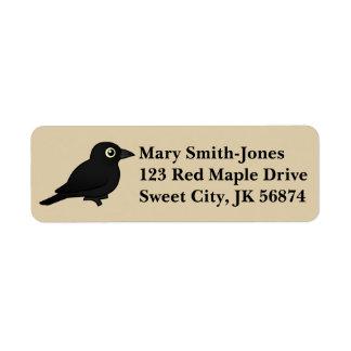 Birdorable Rusty Blackbird Label