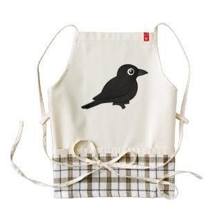 Birdorable Rusty Blackbird Zazzle HEART Apron