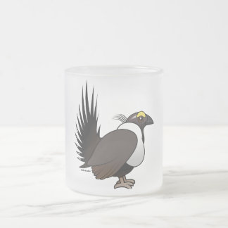 Birdorable Sage Grouse Frosted Glass Coffee Mug