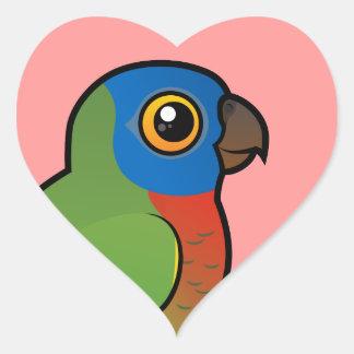 Birdorable Saint Lucia Parrot Heart Sticker