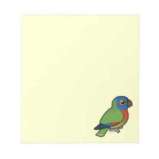 Birdorable Saint Lucia Parrot Notepads