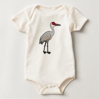 Birdorable Sandhill Crane Baby Bodysuit