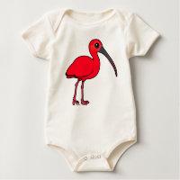 Scarlet Ibis Infant Organic Creeper