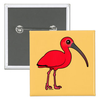 Birdorable Scarlet Ibis Pin