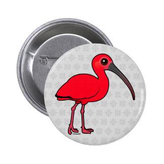 Birdorable Scarlet Ibis Button