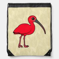 Scarlet Ibis Basic Nylon Drawstring Backpack