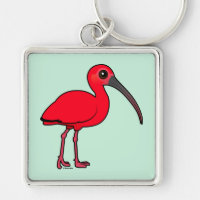 Scarlet Ibis Premium Square Keychain