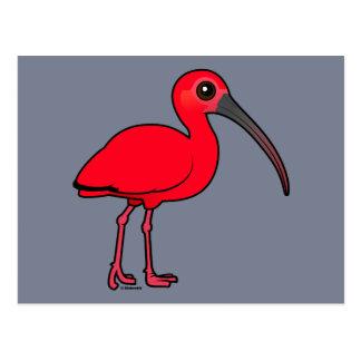 Birdorable Scarlet Ibis Postcard