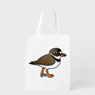 Birdorable Semipalmated Plover Grocery Bags