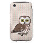 Birdorable septentrional Sierra-amola el búho iPhone 3 Tough Cárcasas