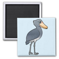 Shoebill Square Magnet