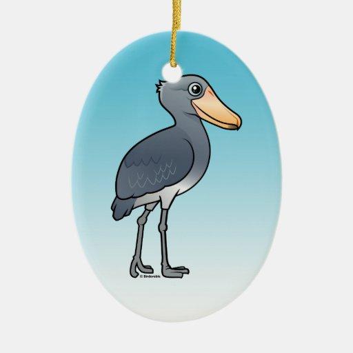 Birdorable Shoebill Double-Sided Oval Ceramic Christmas Ornament