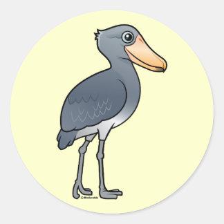 Birdorable Shoebill Pegatina Redonda