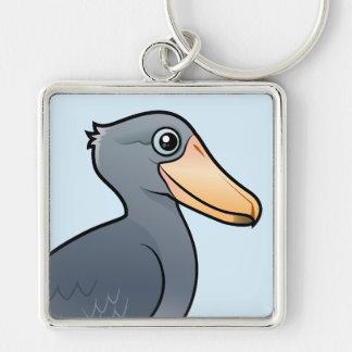 Birdorable Shoebill Silver-Colored Square Keychain
