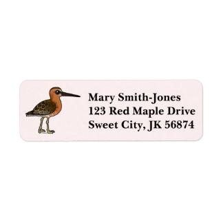 Birdorable Short-billed Dowitcher Label