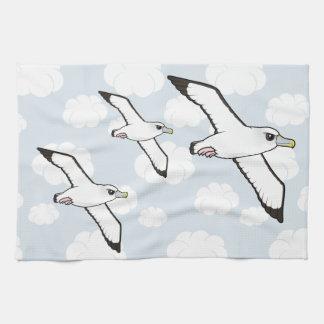 Birdorable Shy Albatross in flight Towels