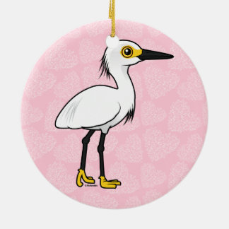 Birdorable Snowy Egret Ornaments
