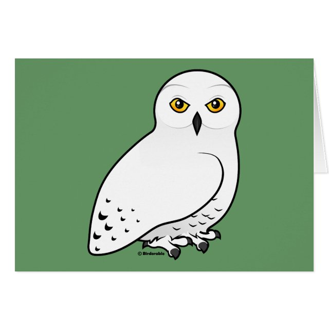 Birdorable snowy owl greeting card cute bird gifts greeting card snowy owls are striking white birds of prey our cute birdorable drawing of this bird is a great gift idea for bird lovers and anyone who m4hsunfo