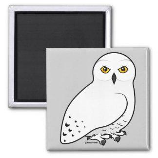 Birdorable Snowy Owl 2 Inch Square Magnet