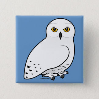 Birdorable Snowy Owl Button