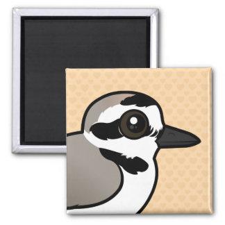Birdorable Snowy Plover 2 Inch Square Magnet