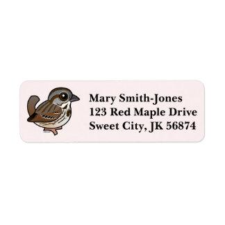 Birdorable Song Sparrow Custom Return Address Label